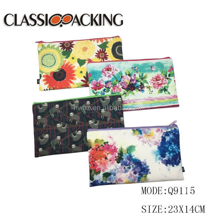Wholesale fashion trendy style colorful canvas bags cheap bag travel toiletry kit cosmetic pouch