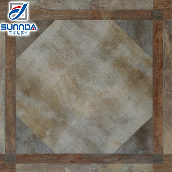unique designing anti-slip original attractive rectified ceramic glazed decorative kitchen flooring tiles 400x400mm