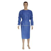 2016 NEW Dark blue 50gsm surgical gown with wide belt/surgical Robe/Medical doctor gown