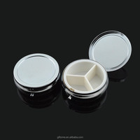 Dia. 52mm blank round metal pill box/ pill case with cutter in stock