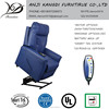 Blue leather massage lift chair electrical rise and recliner sofa KD-DL7128