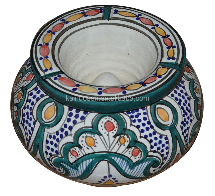 Personalized Handmade Painted Color Glazed Decorative Dubai Ashtray