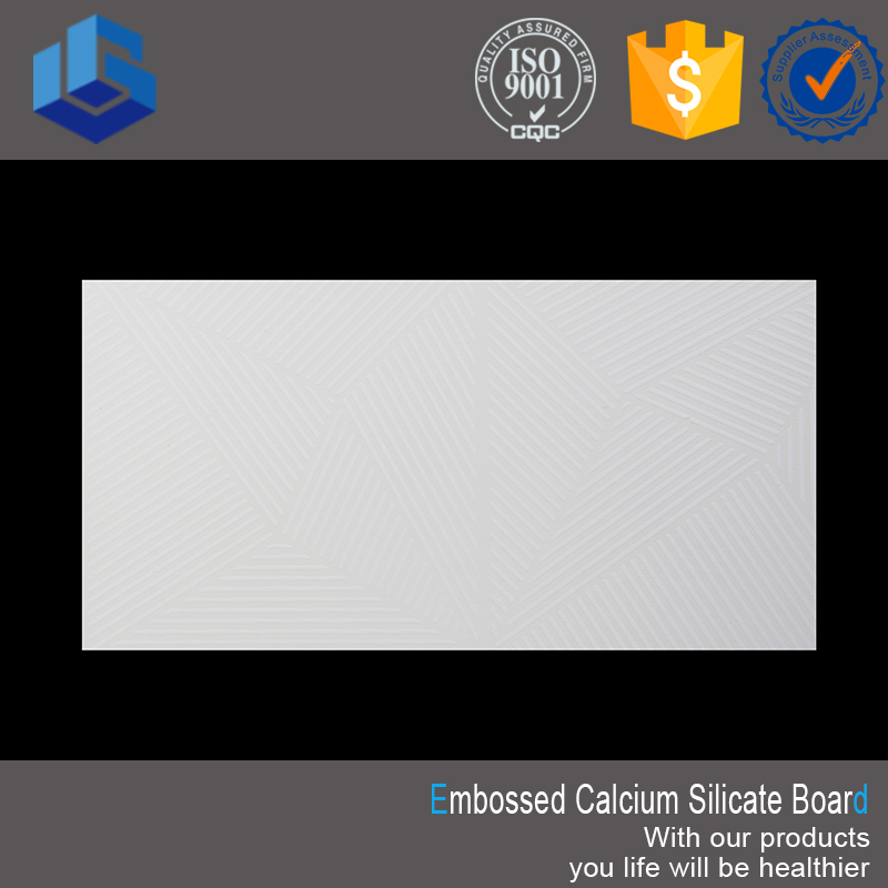 Sound Absorbing Embossed Interior Wall Paneling Calcium Silicate Board ceiling tiles
