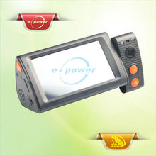 E-Power 3.0 Inch High Definition Touch Screen LCD & Dual Lens(270 Degree Rotate Back Lens) & GPS Module Car Camcorder ER0852