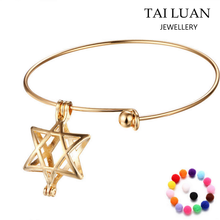 Cheap custom five-pointed star locket diffuser bracelet wholesale in jinhua