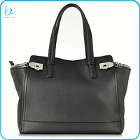 Hot selling real leather tote bag