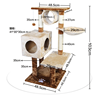 QQPET Factory Price Best Quality Cat Tower Sisal Cat Scratching post