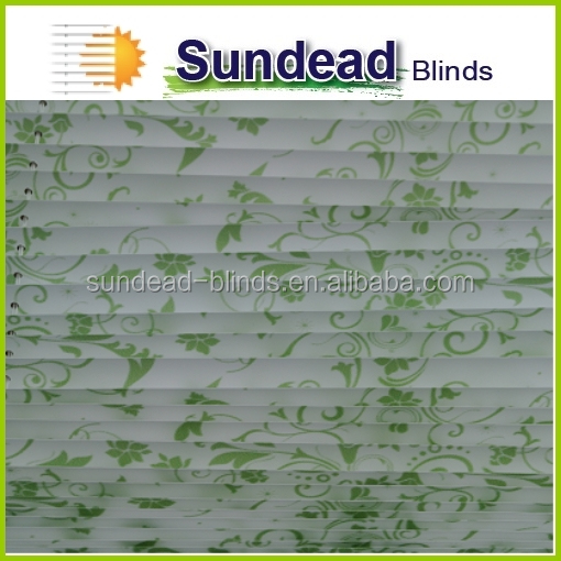 Home deco digital printed Pleated Blinds / 100 % polyester fabric pleated blinds / adjustable pleated blinds