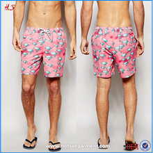 summer beach wholesale polyester mens printing wholesale mens swim shorts mens swim trunks
