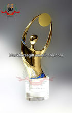 whole customized metal golden crown trophy
