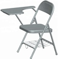 HE-043,Metal Folding Student Chairs with writing pad
