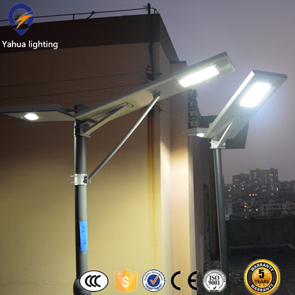 Commerical outdoor 12v 30w all in one street light solar panel retrofit