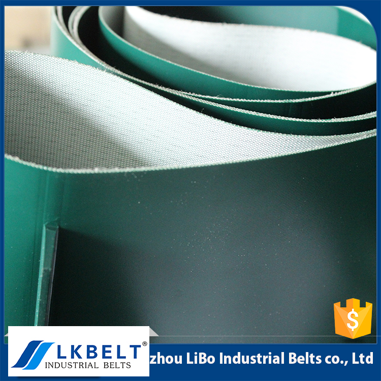 high quality modular cleated baggage green pvc used conveyor belt