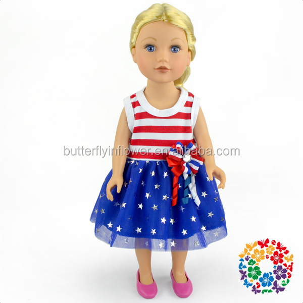 Fashion Girls' Doll One Pieces Dress Clothes Wholesale Cheap 18 Inches American Doll Clothes