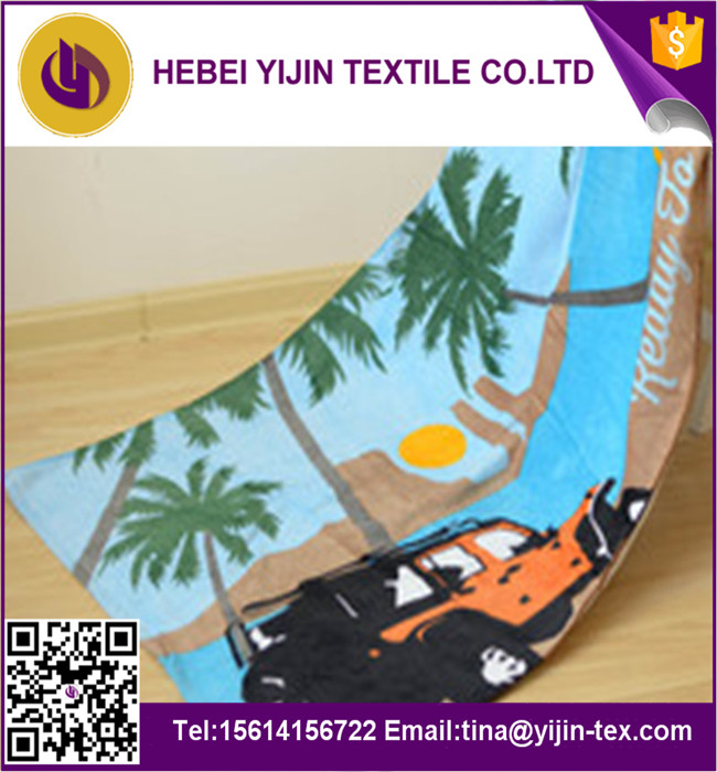 <strong>100</strong>% polyester reactive printed beach towel stock lots