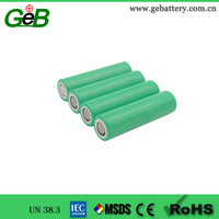 Lithium-ion rechargeable cell for power tools INR18650-25R 2500mAh cylindrical original battery cell