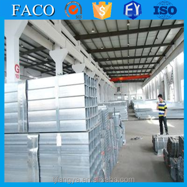 FACO GI RHS ! 50x50 gi square tube galvanized schedule 40 steel pipe wall thickness
