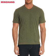 Wholesale 60% Cotton/40% Modal T shirts/ V-neck T-shirts For Man/ Classic Fit Mens Casual T-shirt