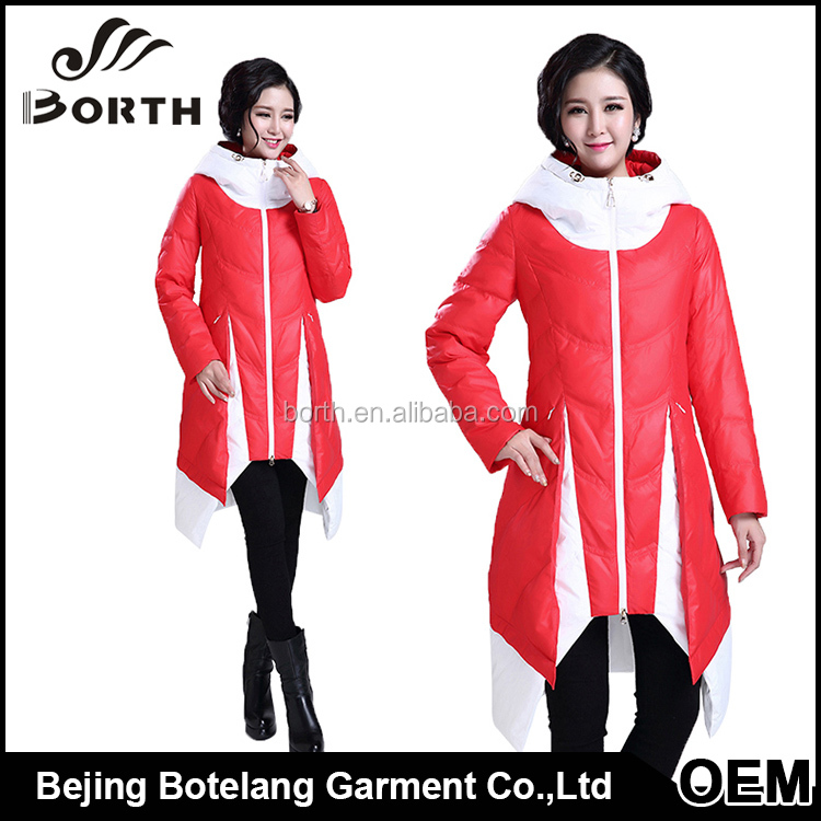 Wholesale woman winter wear down feather filler coat ladies fashion clothing