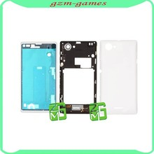 Wholesale Parts Battery Door Cover Back Cover Housing Replacement for Sony Xperia L S36H C2104 White Color