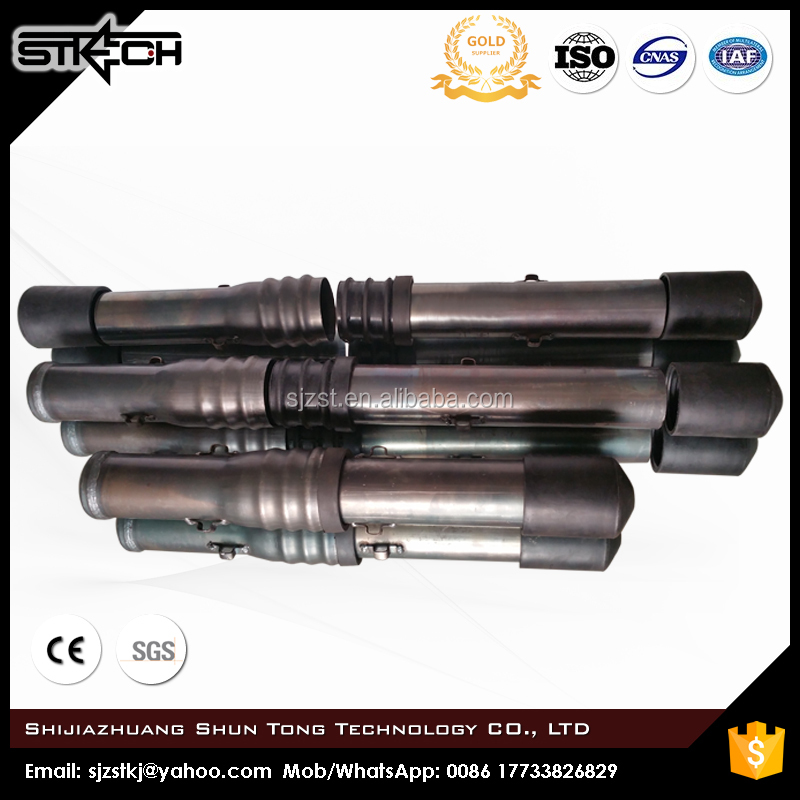 Hebei OD 57THK 1.2mm Push-fit type sonic tested tubes sonic logging pipe sonic pipes with crimping