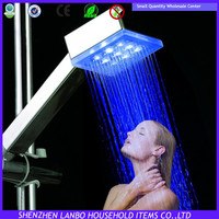 LD8008-A4 Square Single Blue color bathroom led led shower extractor
