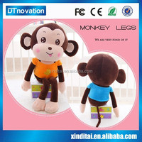 Plush Material Used Music Monkey Soft Toys