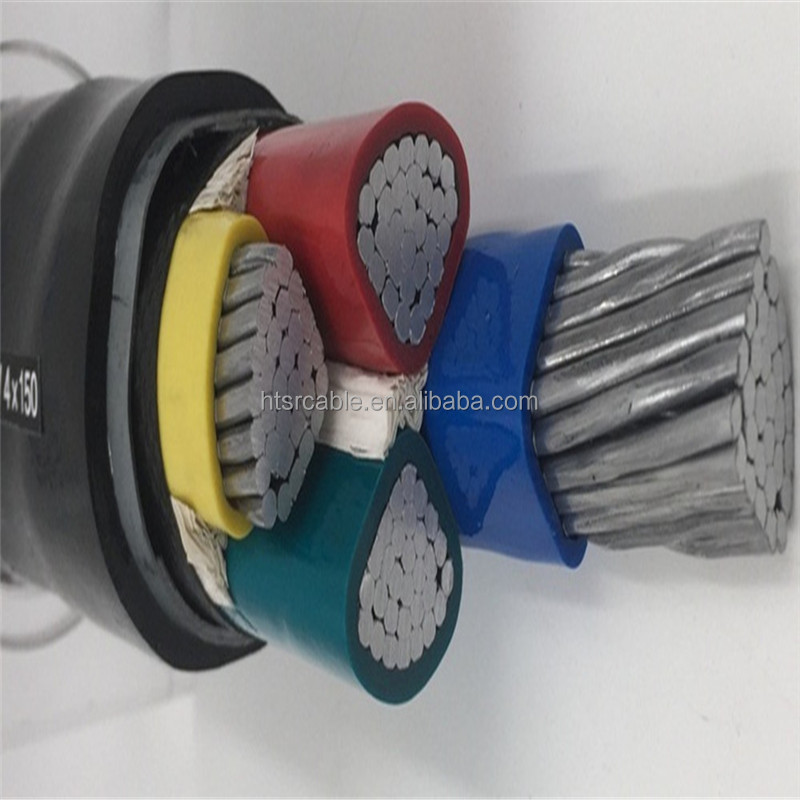 Aluminum or copper core underground installation 4 core 35mm power cable