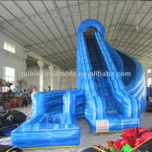 Hot sale blue colour inflatable water slide