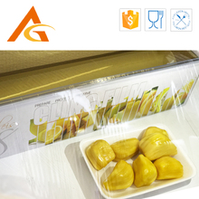 Colored pvc transparent cling film for food packaging