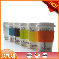 ceramic porcelain mug with silicone lid
