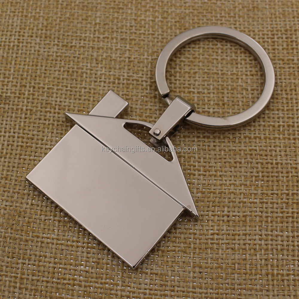 Promotion gifts custom logo metal house shape keyring