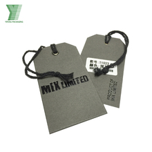 elegant apparel accessories printing custom design paper garment hang tags