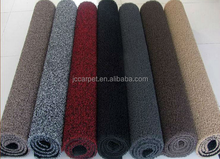 PVC coil mat rolls with firm foam nail grid backing/eco-friendly and anti slip