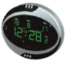 plastic automatic digital color screen calendar wall clock