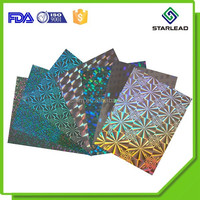 71gsm holographic paper, metallized hologram paper, metallic laser paper for beer label printing