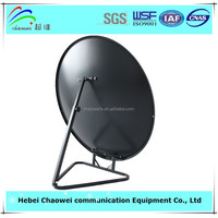 Triangle base ground mount 75cm Ku band offset satellite dish antenna