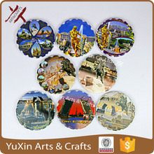 ceramic wares magnet by print any pictures tourist souvenir