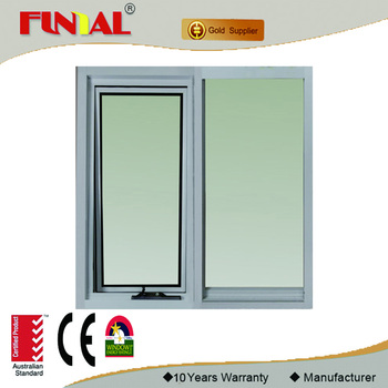 Australia standard aluminum windows with timber frame