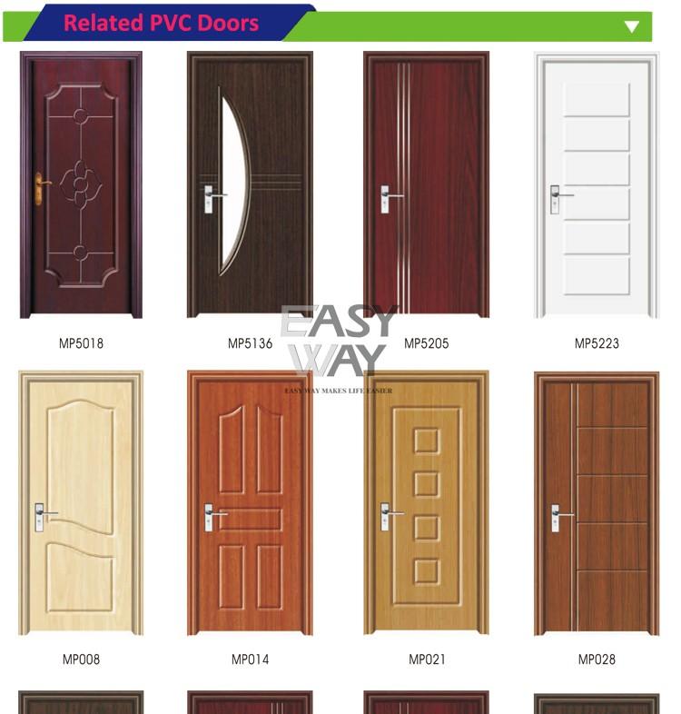 Interior door mdf wooden pvc door with cheap price for for Cheap pvc door