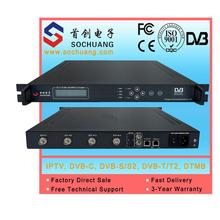 4 Channels mpeg-2 SD IP Encoder/sdi Embedded audio /4in1 MultiChannel SDI to IP ASI Converter For DVB Headend, Live TV