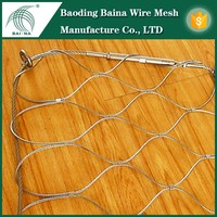 Wire rope wire mesh panels fence low price (china supplier)