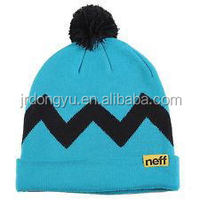 wholesale sport acrylic winter custom knitted beanie hat