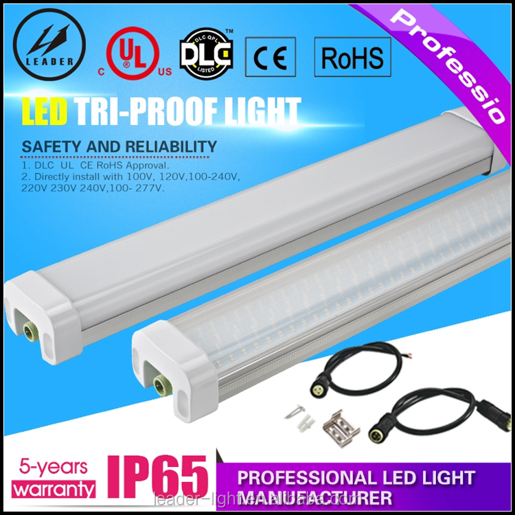 IP65 tri-proof pendant light 3ft 110lm/w led tri-proof tube light