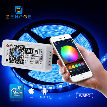 Free APP, newest product for 2018 magic lighting mini rgbw led controller dimmer for led string light by SmartPhone