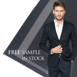 Wholesale Italian Plaid Tweed Boiled Worsted 100% Merino Wool Suit Fabric for Coats