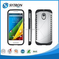 Guangzhou Factory Price Waterproof Gel Case 2 in 1 Hybrid Combo Armor Case for Moto G3