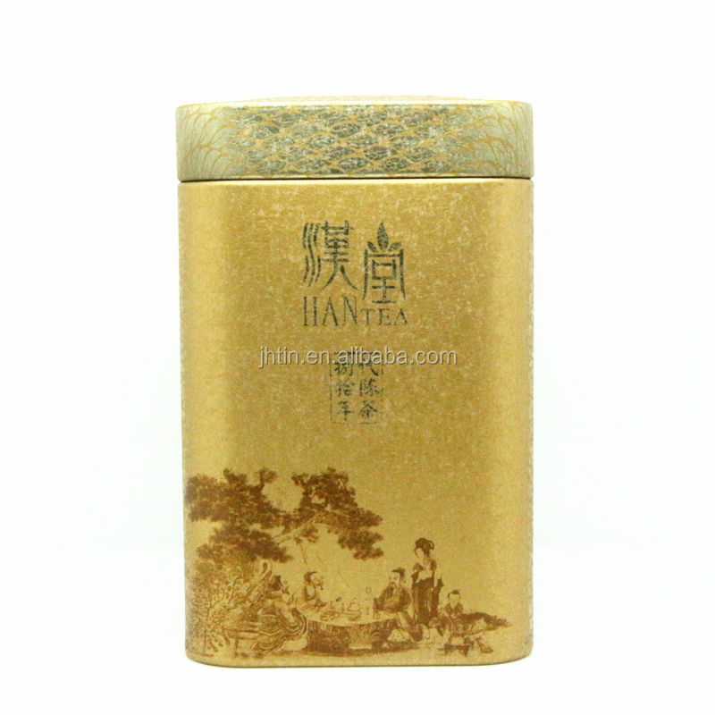 China alibaba wholesale square green tea tin box with air-proof Lid