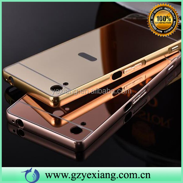 Cheap Price Luxury Aluminum Ultra-thin Mirror Metal Case Cover For Sony Z2
