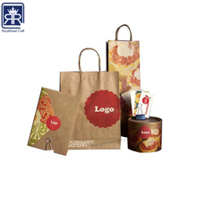 RECYCLED KRAFT PAPER EURO TOTE BAGS WITH BLACK COTTON TWILL HANDLES